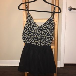 Pins and needles floral romper